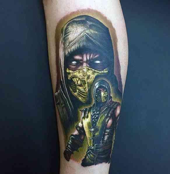 Realistic Mortal Combat Tattoo