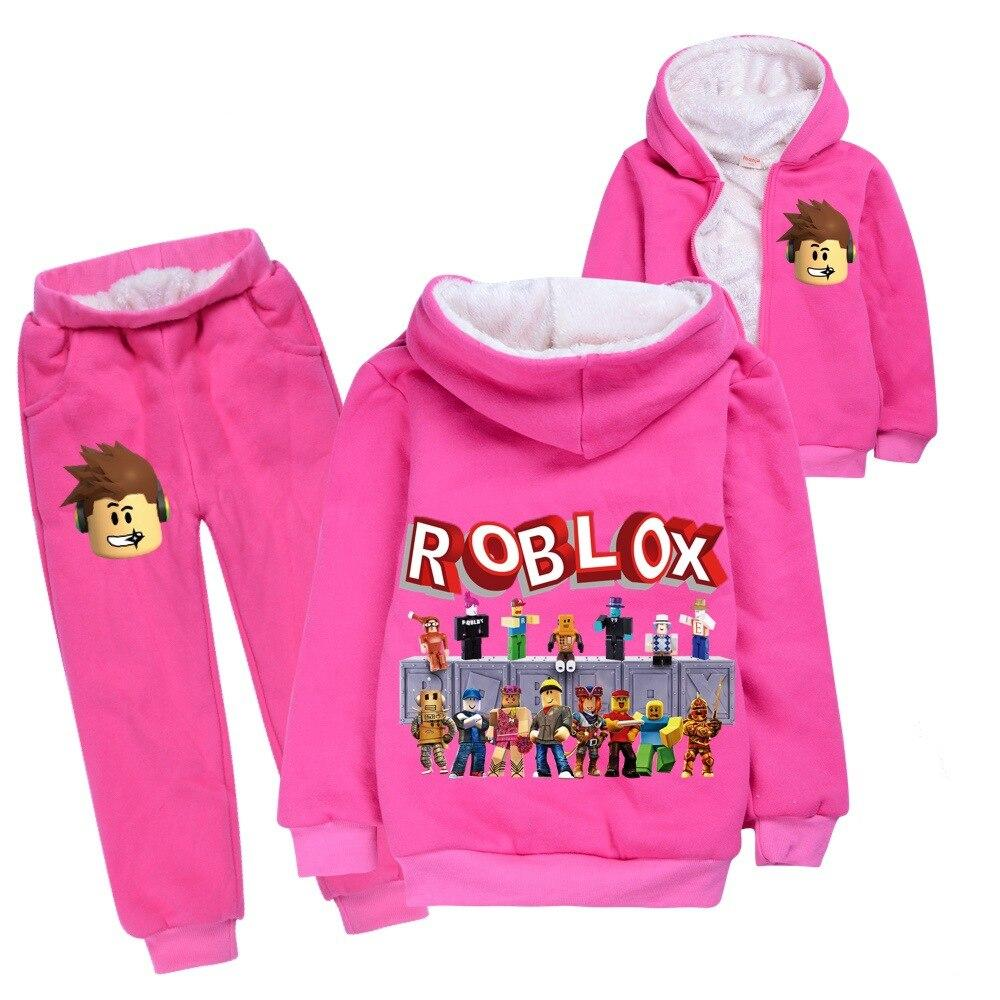 Pink Winter Robox hoodie and pants set