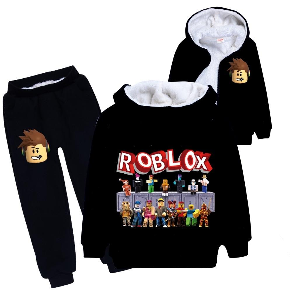 Black hoodie and black pants with roblox icon