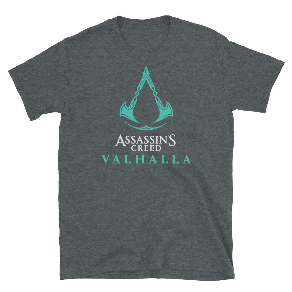 Grey Assassin's Creed Valhalla logo shirt for men