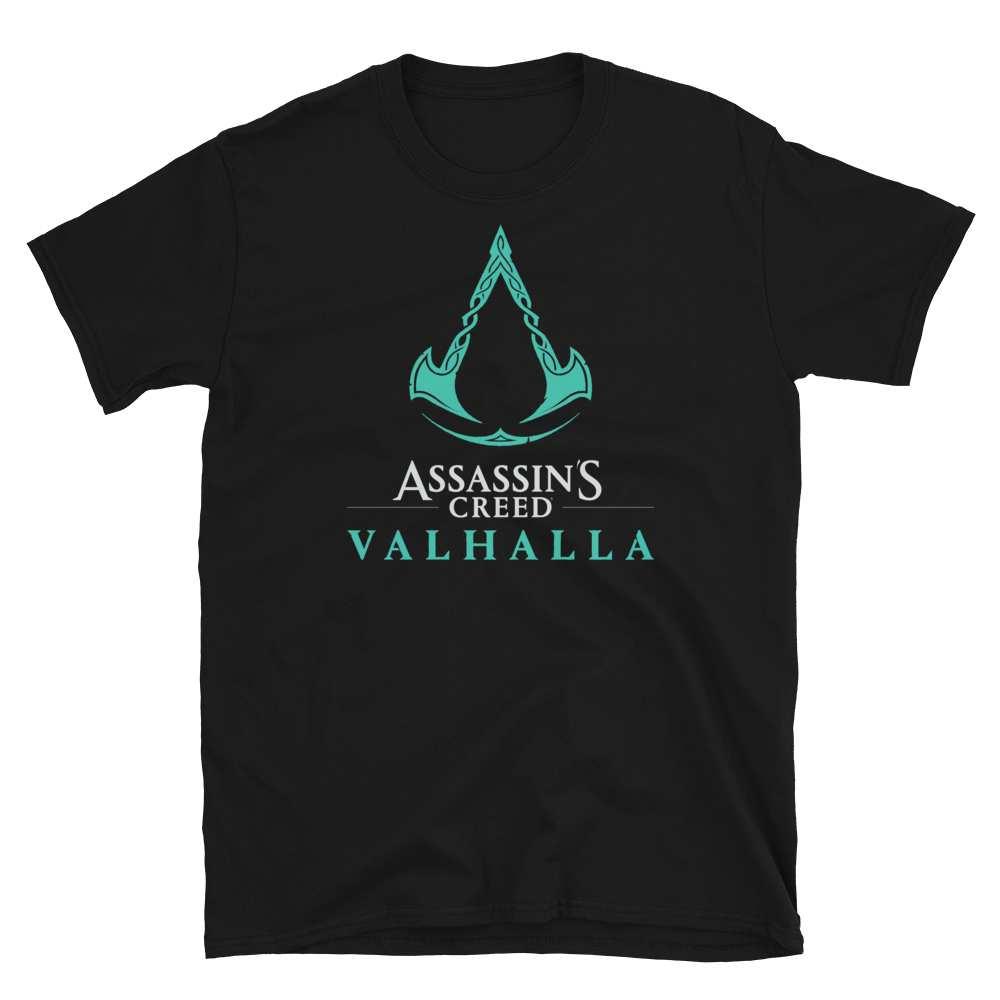 Black Assassin's Creed Vahalla Logo shirt for men
