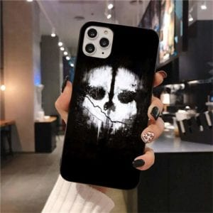 Call of Duty Ghost Iphone Case Black White Skull